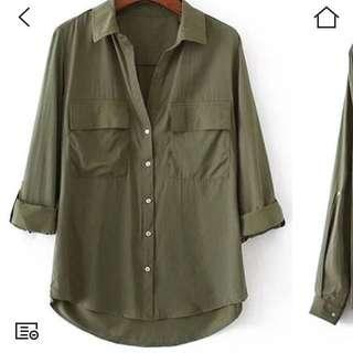 💕olive blouse