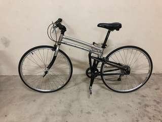 Montague Crosstown foldable multi speed hybrid road bike READ