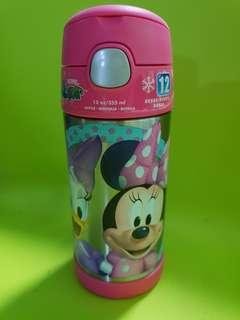 Thermos Funtainer Bnew Genuine Disney 12oz Insulated Straw Bottle