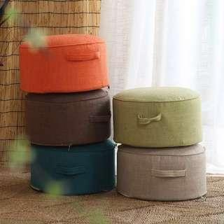 🚚 40x20cm stool pouf futon foot rest with handles