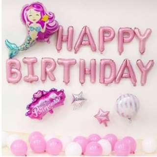🚚 (In Stock)Mermaid Birthday Party Decoration Set