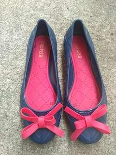 Navy Blue Jelly Shoes