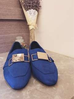 🚚 豆豆鞋絨布麂皮穆勒鞋