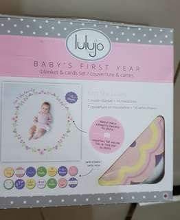 Baby's First year blanket and cards milestone set - 1st day, week and monthly