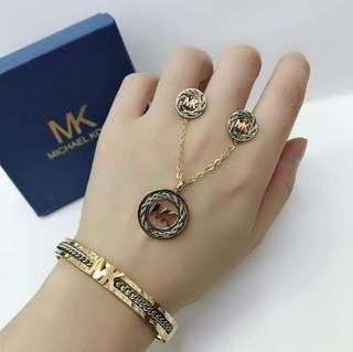 """MK 3in1 Sale """"New"""" Necklace,Bangles,Earring"""