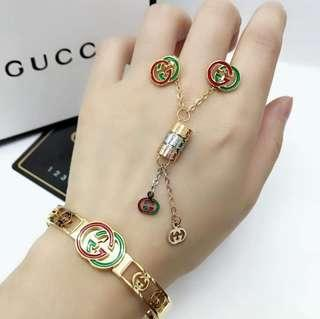 """GUCCI 3in1 """"Sale""""New"""" Necklace,Earring,Bangles"""