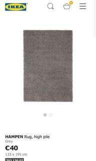 Ikea rug; Hampen 195 x 133 cm