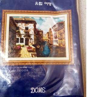 Paket Sulam Kristik/Cross Stitch. Europe Travel (turun harga!!)