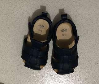 H&M blue sandals for boys
