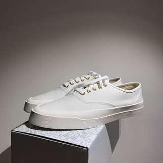 Maison Kitsune white canvas sneakers