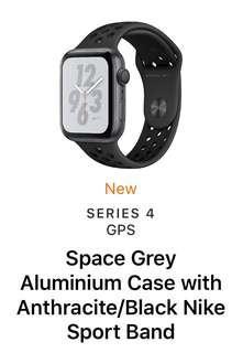 44mm Apple Watch Nike Black Band