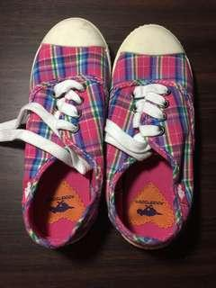 Pink striped shoes