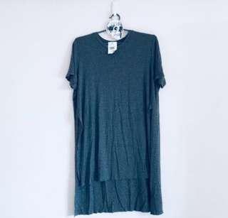 🚚 brandy melville armelle grey slit shirt
