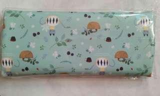 willow pattern pencil case from S.Korea in mint tea shade