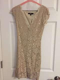 Lacy gold dress