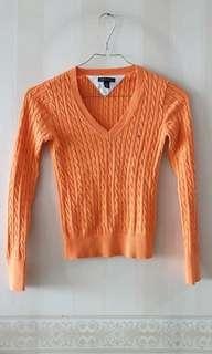 TOMMY HILFIGER SWEATER ORANGE