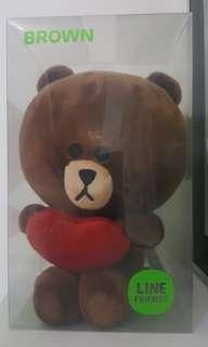 Line Friends Brown 熊大正版 手,心心,有磁石全新