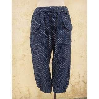 🚚 正品 a la sha 藍色圓點 七分尿布褲/ 飛鼠褲 size: M