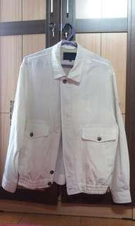 Jaket Oversized Vintage Broken White