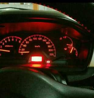 Lancer Cs3  speedometer led conversion