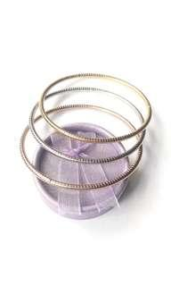 Stainless Steel Tri-Color Women's Bangle