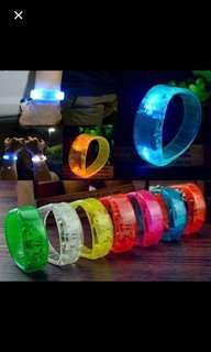 Party voice control led light bracelet