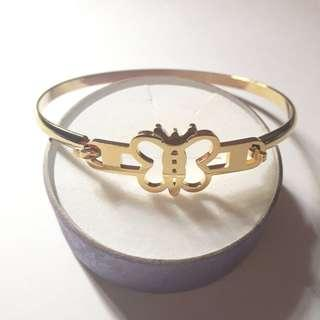 Stainless Steel Butterfly Bangle