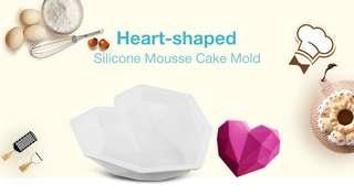 DIY Love Form Silicone Mousse Cake Mold (WHITE)