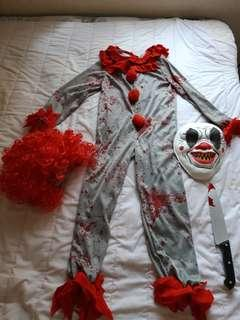 Kostum killer clown for kids