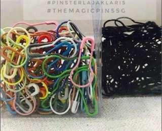 Promo clear stock- Magic Pins- colours/black