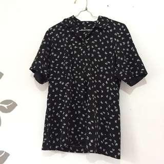 Floral Black Shirt
