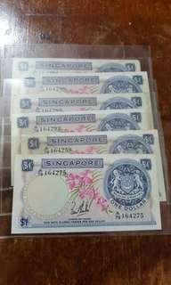 6 pcs old note