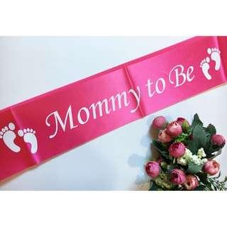 Mommy To Be Satin Sash (Pink)