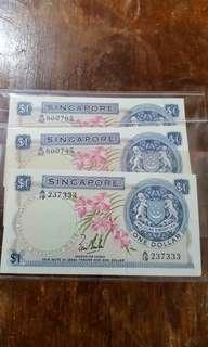 3pcs old note