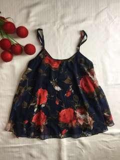 Floral String Top