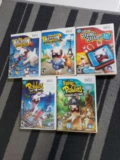 Preloved Wii Games Raving Rabbids collections bundle