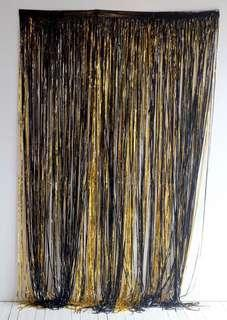 Black/Gold Fringe Foil Curtains