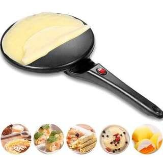 Electric Crepe Maker Multifunctional Baking Pan Chinese Spring Roll Machine (BLACK)
