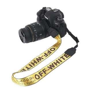 Off-White Camera Strap - Yellow Ready Stock - FREE POSTAGE / POS PERCUMA