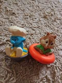 🚚 Set of 2 : smurf and chipmunk