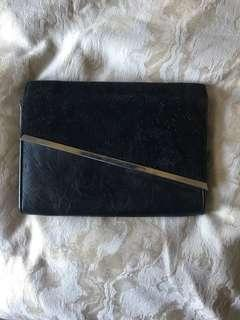 Colette Black/Gold Asymmetrical Clutch