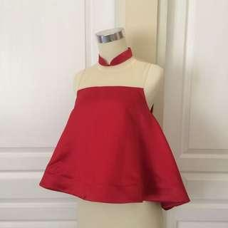 Red party top