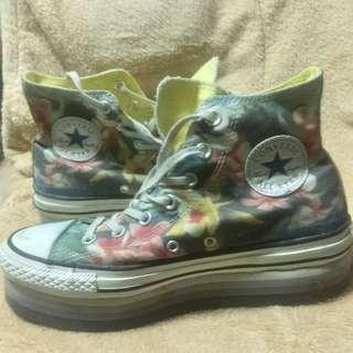 Original Converse Floral Design with Wedge Sole