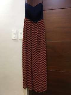 Chevron Print Tube Dress