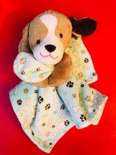 Preloved baby security blanket with plush head