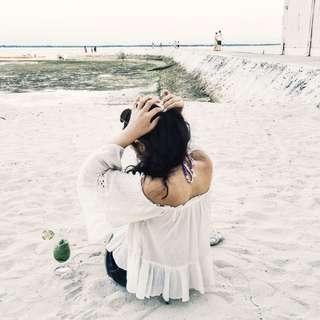 Zara Off-Shoulder Cream Top