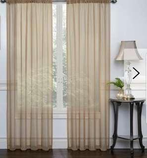 Brand New-3 Packages Beautiful Lisa Voile Drapes (2 panels/set)
