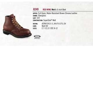 Redwing 8249 Safety Shoes