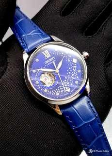* FREE DELIVERY * Brand New 100% Authentic Orient Galaxy of Stars Automatic Blue Dial Lady's Dress Watch on Leather RA-AG0018L