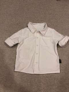 White collar shirt - 80cm